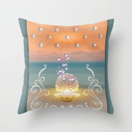 Pearlized Stardust I Throw Pillow