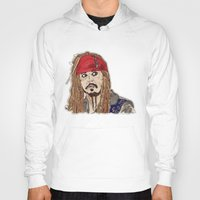 jack sparrow Hoodies featuring Jack Sparrow - Pirates - Carribbean - JonnyDepp - Depp by Matty723