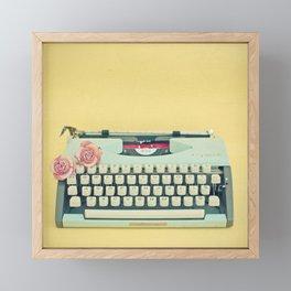 The Typewriter Framed Mini Art Print
