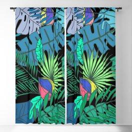 TROPICAL GARDEN B (abstract) Blackout Curtain