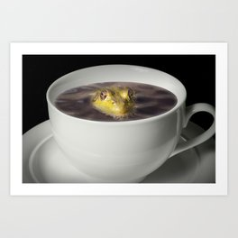 Yikes there is a Frog in my Java Art Print