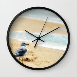 Lonely gull of summer. Wall Clock