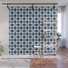 Blue Stained Glass Wall Mural