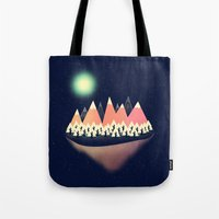 decal Tote Bags featuring The Other Side by Zach Terrell