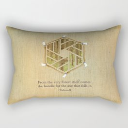 Forest & Axe — Illustrated Quote Rectangular Pillow