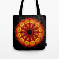 phoenix Tote Bags featuring Phoenix by Mr. Pattern Man