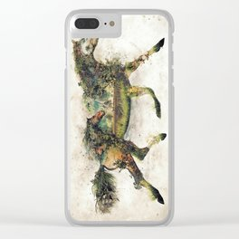 Wild Horse Surrealism Clear iPhone Case