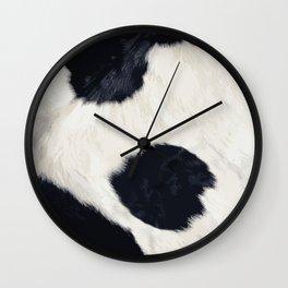 Cow Skin Wall Clock