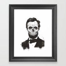 Dead Lincoln (b&w) Framed Art Print
