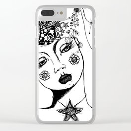 You Have No Clue What Is In My Head GRRL Clear iPhone Case