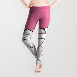 Abstract pink combo pattern . Leggings