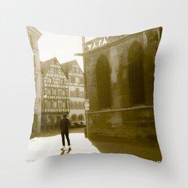The skater France Throw Pillow