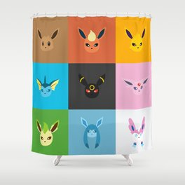 Eeveelution Shower Curtain
