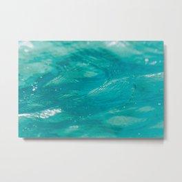 Aqua Waves Metal Print
