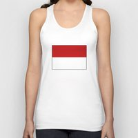 indonesia Tank Tops featuring indonesia country flag by tony tudor