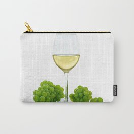 white wine and grapes Carry-All Pouch