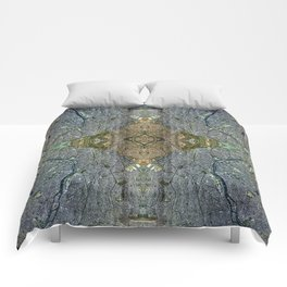 Paris, France - Augmented Topography Giclée Print Comforters