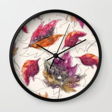 Maple Pattern Wall Clock