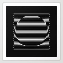 Circle over black Art Print