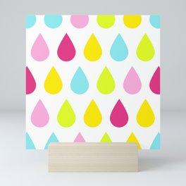 Princess Colour Pop Raindrops Mini Art Print