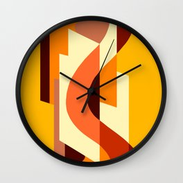 SUISSE - Art Deco Modern: AUTUMN ORANGE Wall Clock