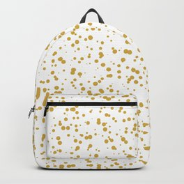 Gold Confetti Dots Pattern Backpack