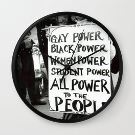 All Power To The People Wall Clock