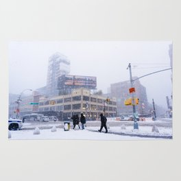 Snowy NYC Meatpacking District Rug