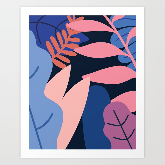 Colored Leaves Art Print
