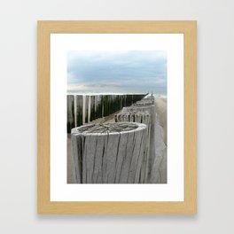 North Sea Break Framed Art Print