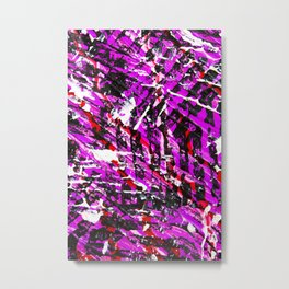 Abstract Acrylic Artist Painting Tribal Purple Metal Print