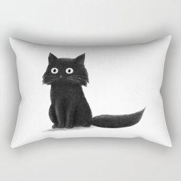 Sitting Cat (mono) Rectangular Pillow