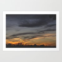 Autumn Skies Art Print