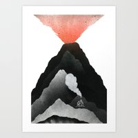 Man & Nature - The Vulcano Art Print