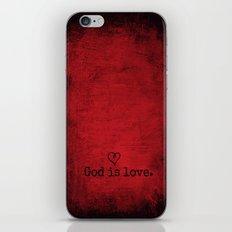 God is Love iPhone & iPod Skin