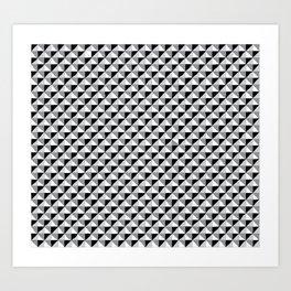 Pattern_1 B&W Art Print