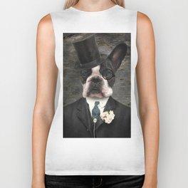 Sir Duncan - Boston Terrier Portrait Biker Tank