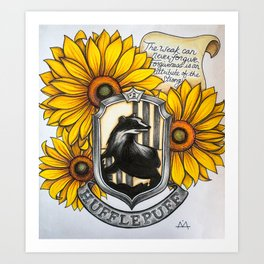 Hufflepuff Charm Art Print