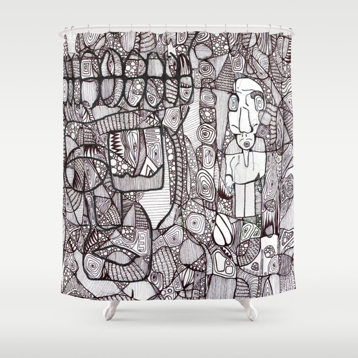 Chaos & Order Shower Curtain