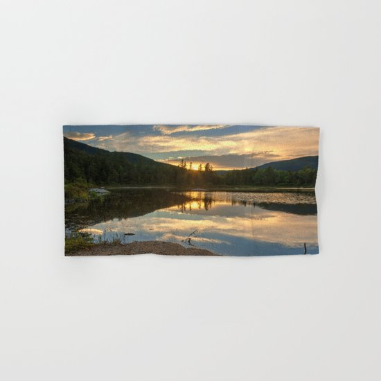 Lily Pond Sunset Hand & Bath Towel