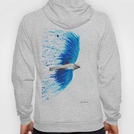 Blue Healing Bird Hoody