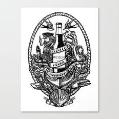 Cerveza Mustache Canvas Print