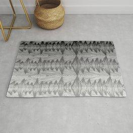 spiky grey gradient Rug