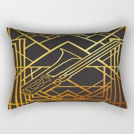 Art Deco Basun Rectangular Pillow