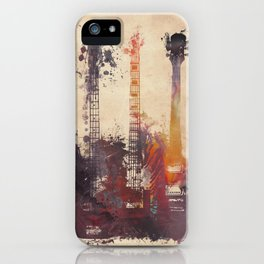 guitars 3 iPhone Case