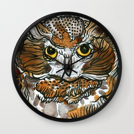 Owl Tea Wall Clock