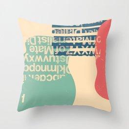 gum letter Throw Pillow