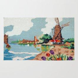 Cross stitch Windmill Rug