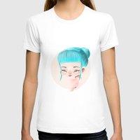 aqua T-shirts featuring Aqua by maespinozaf