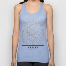WARSAW POLAND CITY STREET MAP ART Unisex Tank Top